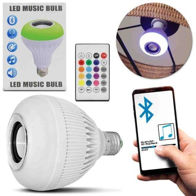 Lâmpada Led RGB com Caixa de Som Ideal Para Decorar Ambiente - Foto 2