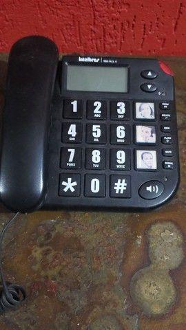 Aparelho de telefone Intelbras, perfeito para idosos e deficientes visuais