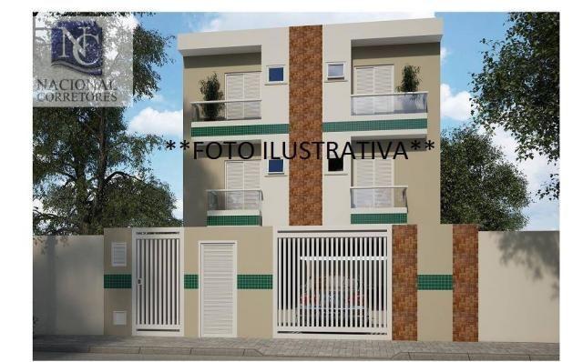Apartamento com 2 dormitórios à venda, 48 m² por r$ 235.000,00 - vila guaraciaba - santo a - Foto 2