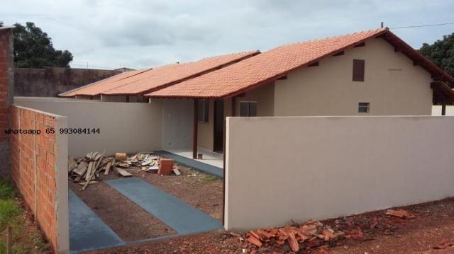 Casa para venda em várzea grande, novo mundo, 2 dormitórios, 1 banheiro, 4 vagas - Foto 14
