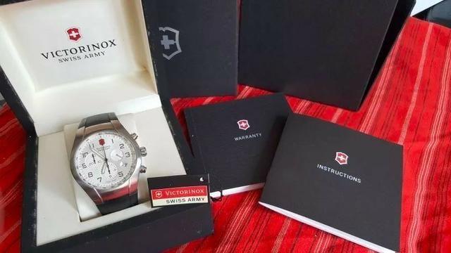 Relógio Victorinox Swiss Army Chrono V25132 Completo e c/ Frete Grátis