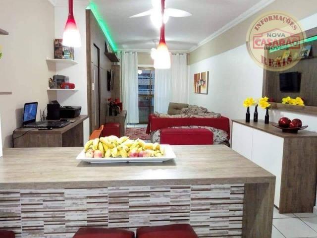 Apartamento com 2 dormitórios à venda, 89 m² por R$ 285.000 - Vila Tupi - Praia Grande/SP - Foto 5