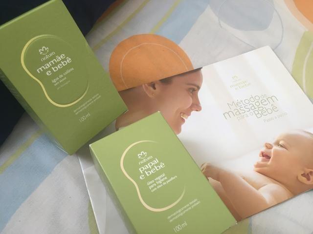 Colônia + óleo de massagem + livro Natura