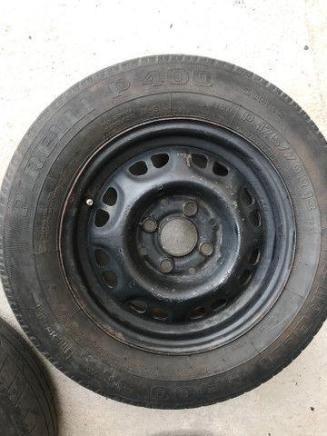 Roda + pneu 175/70/13 R$ 99 - Foto 4