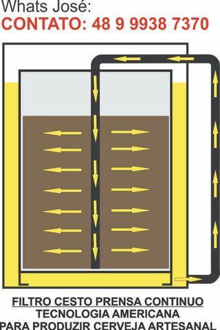 Sistema de Prensa de Inox com tecnologia Norte Americana para Cerveja - Foto 2