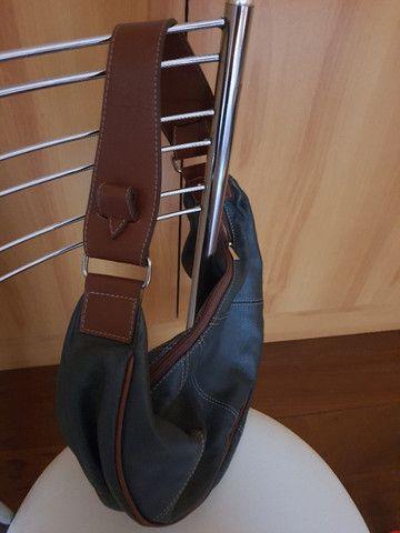 Bolsa de mão forrada - Nobuck - Foto 5