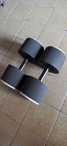Barras e halteres de concreto emborrachados - Foto 4