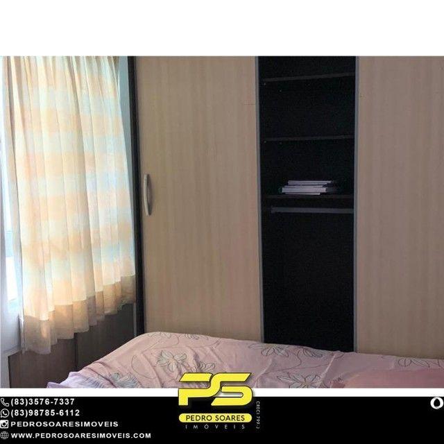 (MOBILIADO) Apartamento com 2 dormitórios à venda, 60 m² por R$ 360.000 - Tambaú - João Pe - Foto 4