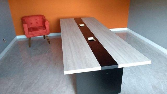 Mesa De Reunião Premium Alcateia Azul  - Foto 6