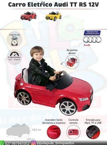 Venda Carrinho Elétrico Audi infantil TT RS colorido - A pronta entrega Melhor preço do ES