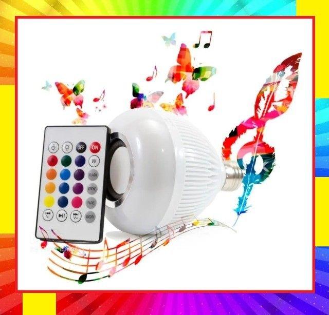 Lâmpada Led RGB com Caixa de Som Ideal Para Decorar Ambiente - Foto 6