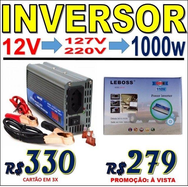 Inversor Conversor de Energia, voltagem 12 ou 24V para 127V ou 220V Várias potências - Foto 4