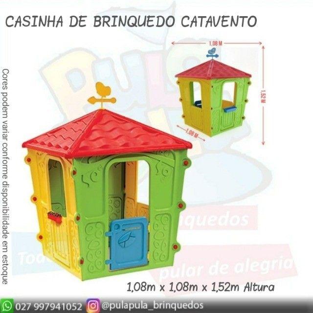 Novidade!! Casinhas Infantis coloridas para sua área Kids e diversão infantil - Foto 5
