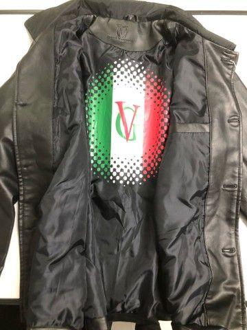 Jaqueta de Couro Italiana VG World Collection tam M - Foto 2