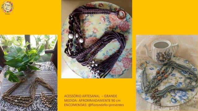 suporte artesanal decorativo para plantas e flores - Foto 2