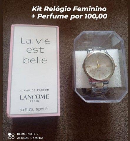 Kit Relógio e Perfume 100 ML  - Foto 3