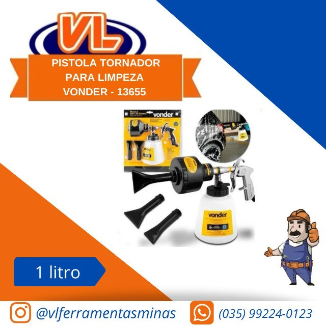 Pistola Jato de Espuma Vonder para Limpeza Automotiva com Caneca  - Foto 2