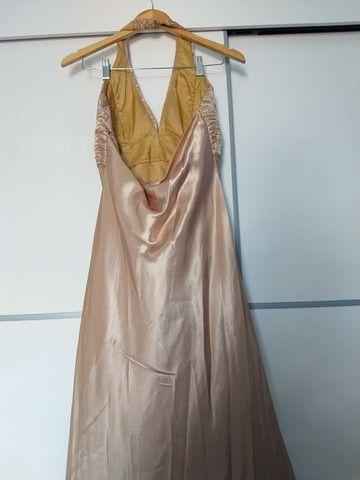 Vestido Longo Festa Dourado  - Foto 4