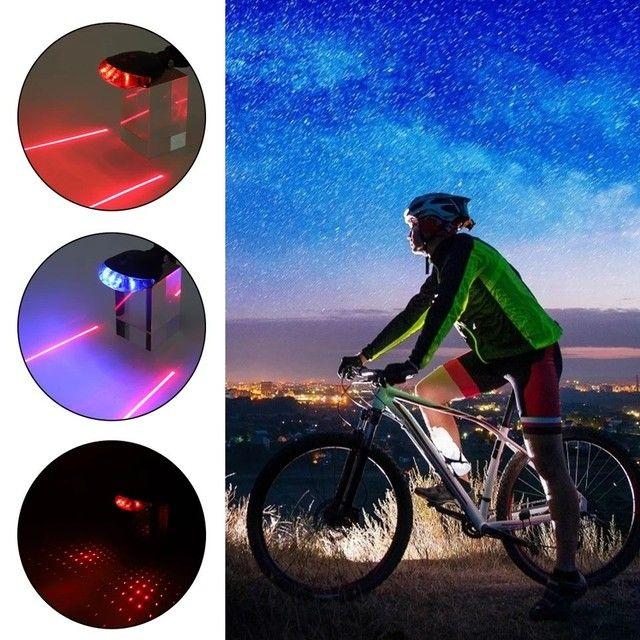 Ciclismo - Luzes traseiras de segurança - Foto 2