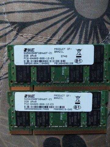 Memória 4 Gb ( Kit 2x2gb ) Ddr2 Pc2-6400 Smart<br><br> - Foto 2