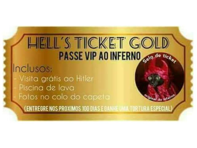 Hell's Ticket Gold - Passe Vip Ao Inferno