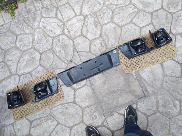 Tampa traseira + Lanternas Arteb + Aplique Moldura placa Santana G3 - Foto 12