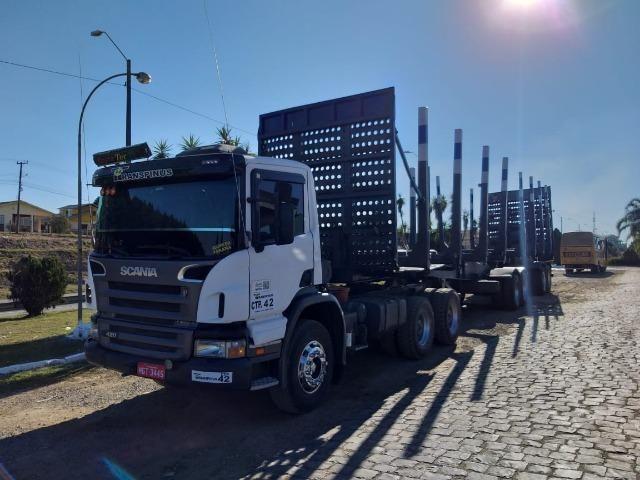 Scania traçado com Bitrem florestal