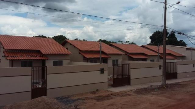 Casa para venda em várzea grande, novo mundo, 2 dormitórios, 1 banheiro, 4 vagas - Foto 2