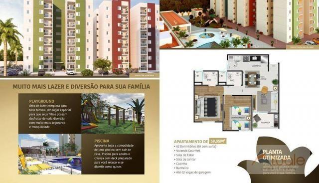 Apartamento com 2 dormitórios à venda, 59 m² - jardim santa rita i - nova odessa/sp - Foto 19