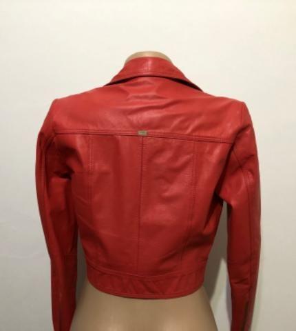 Jaqueta couro vermelha mc Bennett tam M - Foto 2