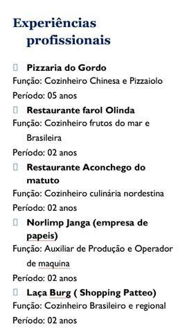 Cozinheiro profissional serv service Cozinha geral chinesa brasileira nordestina regional - Foto 3