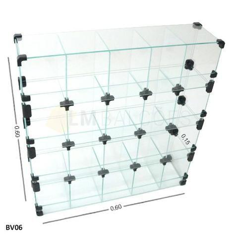 Baleiro de Vidro Promoçao 0,60 x 0,60 x 0,15 frete e montagem grtais