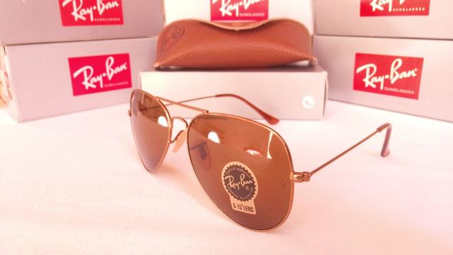 Óculos de Sol RayBan Aviador Marrom - Bijouterias, relógios e ... c6259898ca