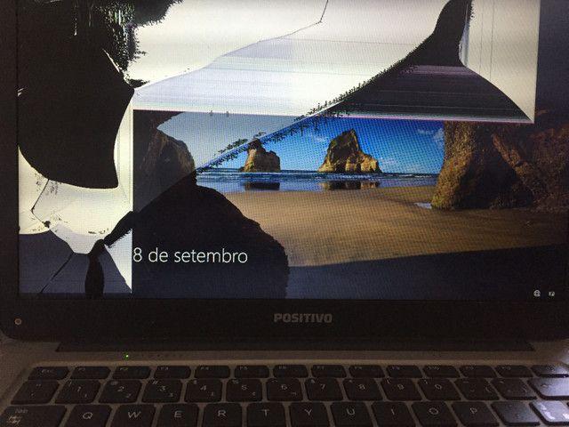 Notebook,funciona normalmente!! Mas a tela está quebrada!
