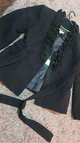 Casaco de lã batida preto!