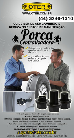 Centralizador de Rodas p/ Caminhões e Carretas (Todas as Medidas)