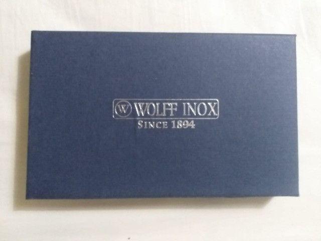 Jogo 06 mini-colheres de café de aço inox da WOLF