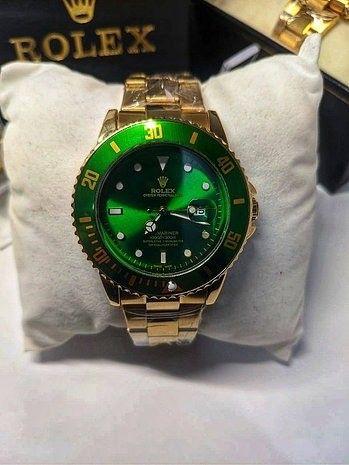 Rolex Submariner Verde linha Gold (1ª Linha) - Foto 3