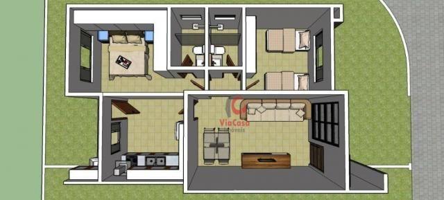 Casa linear com 2 dormitórios à venda, 62 m² Terra Firme - Rio das Ostras/RJ - Foto 10