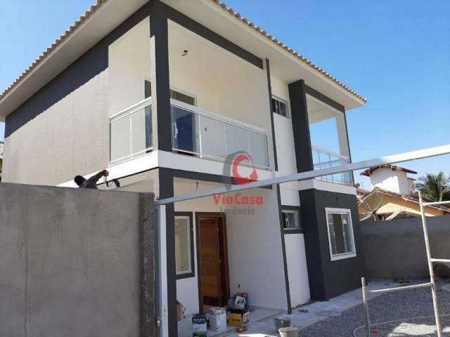Casa à venda, 122 m² por R$ 380.000,00 - Costazul - Rio das Ostras/RJ