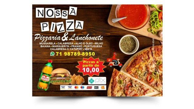 Pizzas grande sem taxa e refri grátis