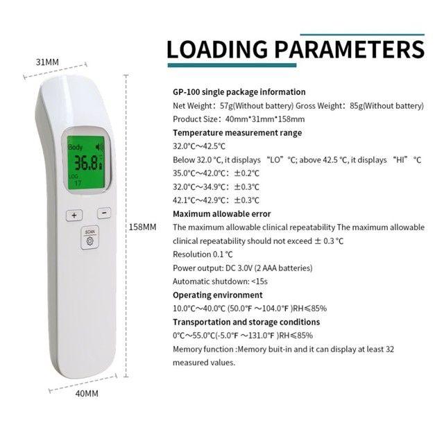 Termômetro infra vermelho GP-100 display LCD 3 cores auto OFF, preciso e rápido - Foto 2