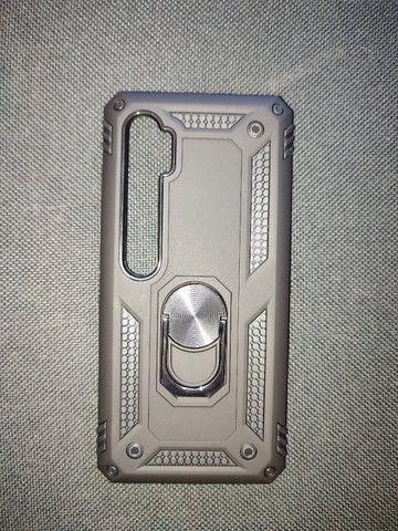 Capa Case de Proteção Tpu Anel Metal Xiaomi Mi Note 10, Pro e Lite