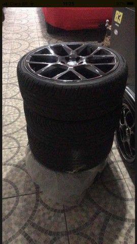 Roda aro 20 com pneus *** LEIA O ANUNCIO*** - Foto 2