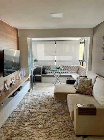 Apartamento na Jatiuca, 110m², 3/4-2 suites, varanda integrada - Foto 4