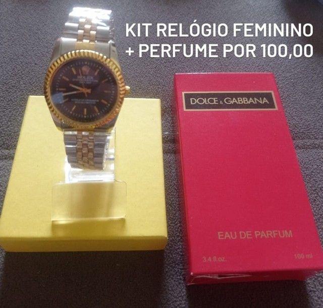 Kit Relógio e Perfume 100 ML  - Foto 2