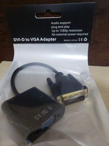 Conversor de Vídeo DVI-D para VGA - Foto 3