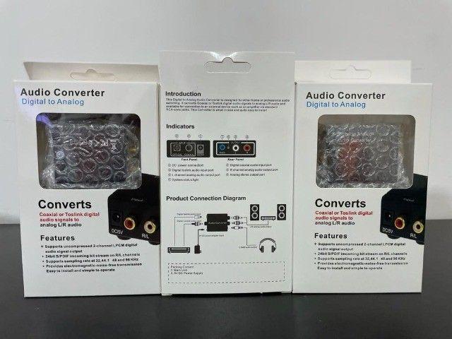 Adaptador Conversor Ótico Toslink E Coaxial Digital P/ Rca - Foto 2