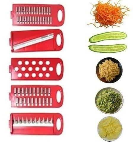 Fatiador De Frios Legumes Queijo ideal para fazer espaguete 5 Em 1  novo lacrado - Foto 2