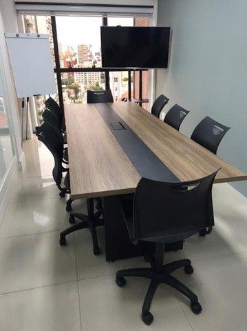 Mesa De Reunião Premium Alcateia Azul  - Foto 4